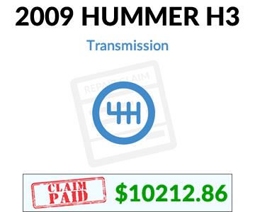 2009 Hummer H3 claim paid