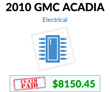 2010 GMC Acadia claim paid