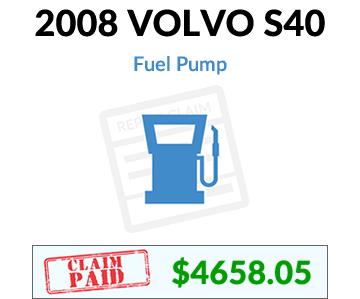 2008 Volvo S40 claim paid