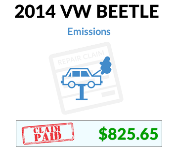 2014 VW Beetle claim paid