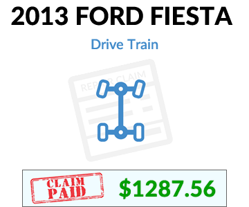 2013 Ford Fiesta claim paid